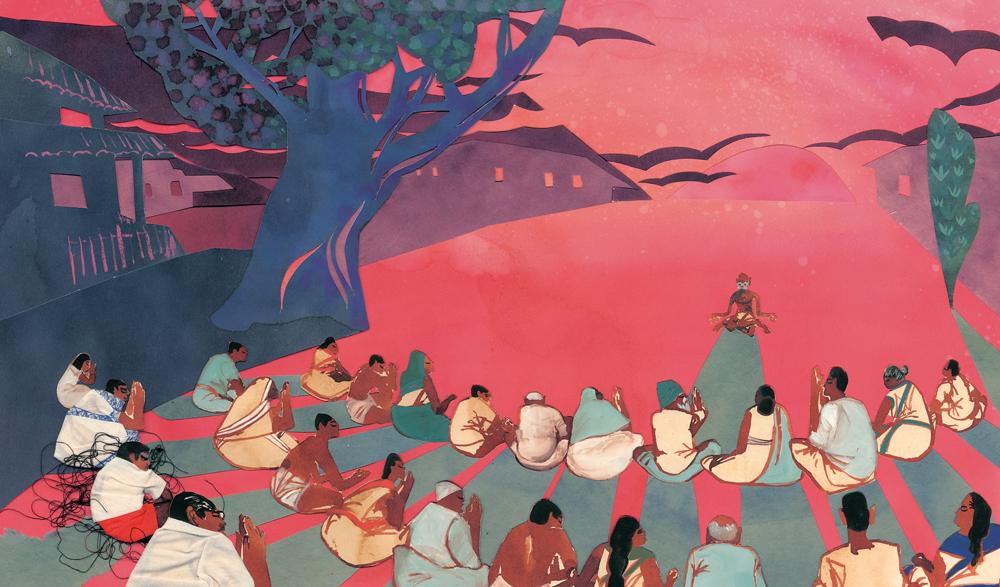 Grandfather Gandhi Illustration © Evan Turk